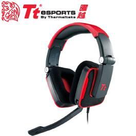 Tt eSPORTS SHOCK 震撼者 頭戴式電競耳麥 熾焰紅/可摺疊式設計/可彎曲式麥克風/可調整調式頭帶/HT-SHK002ECRE