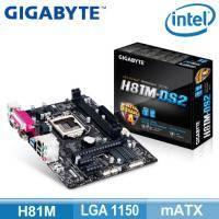 技嘉 H81M-DS2 (mATX/2*RAM/1*PCIe x16/U3S6/D-Sub)