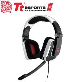 Tt eSPORTS SHOCK 震撼者 頭戴式電競耳麥 白色/可摺疊式設計/可彎曲式麥克風/可調整調式頭帶/HT-SHK002ECWH
