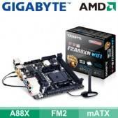 技嘉 F2A88XN-WIFI (mITX/2*RAM/1*PCIe x16/U3S6/HDMI+DVI/19pin)