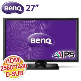 BenQ 27.0吋 BL2710PT/IPS/2560X1440/HDMI+DP+DVI+D-SUB+USB3.0*2/3W*2喇叭/可翻轉 (電競) 6期0利率