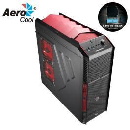 AeroCool XPredator X1 red edition 惡魔紅/ATX/紅化/下置電源/U3*2/支援400mm顯卡/12公分風扇*1+8公分風扇*1/28-026-EN57066