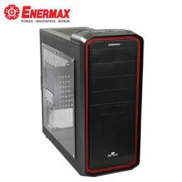 保銳 Ostrog 黑魅騎士 黑色紅邊透側版/ATX/黑化/下置電源/U2*3+U3*1/支援413mm顯卡/12公分風扇*1/ECA3254-BR