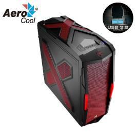 AeroCool Strike-X Xtreme Devil Red Edition 黑紅色/ATX/白化/下置電源/USB3.0*2/支援293mm顯卡/12cm風扇*2