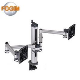 FOGIM 夾桌旋轉式液晶螢幕支架(雙螢幕)-終身保固-TKLA-1222-S