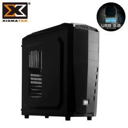 Xigmatek 富鈞 MACH 馬赫 ATX/黑/黑化/下置電源/U3*2(19pin) 內含三個風扇