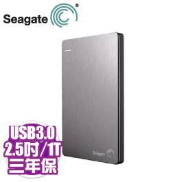 Seagate Backup Plus Slim 1TB銀(STDR1000301)/外接/USB3.0/行動裝置備份/5G雲端【需客訂出貨】