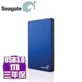 Seagate Backup Plus Slim 1TB藍(STDR1000302)/外接/USB3.0/5GB雲端空間【需客訂出貨】