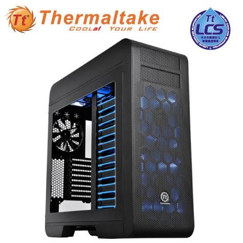 曜越 CORE V71 黑色/EATX/黑化/下置電源/USB3.0*2/支援400MM顯卡/20CM風扇*314CM風扇*1 CA-1B6-00F1WN-00