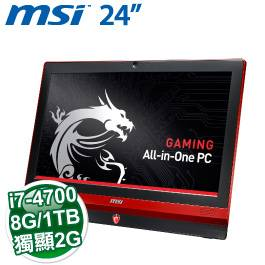MSI AG240 2PE 24R74708G1T0DS81MANX【24/Intel I7- 4700HQ TB3.4GHz/DDR3 8G/128 SSD+1TB/NV 860 2G D5 /2M CCD/3in1/Non Touch Win8/DVDRW/一年保】 860 2G DD..