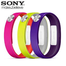 SONY SWR110 耀眼款手環 L號 (紫/黃/白)