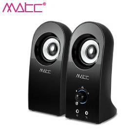 MATC MA-2204 二件式 獨特圓弧造型小喇叭 /USB供電/可調音輛旋鈕