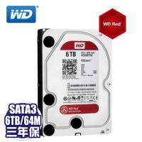 WD【NAS碟紅標】6TB/(WD60EFRX)/Intellipower/SATA3/64MB/三年保固