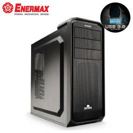 保銳 黑魅騎兵 黑色/支援ATX、MATX/黑化/下置電源/USB3.0*1/支援390mm顯卡/12cm風扇*1/ECA3351B-B
