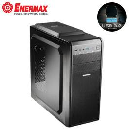 保銳 伏魔戰神Q 黑色/支援ATX、MATX/黑化/下置電源/USB3.0*1/支援390mm顯卡/12cm風扇*1/ECA3361B-B