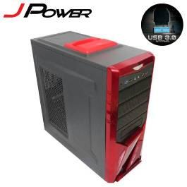 杰強 JP-3S0R 劍靈 ~ 紅-ATX/黑化/上置電源 U3*1.U2*3【福利品出清】