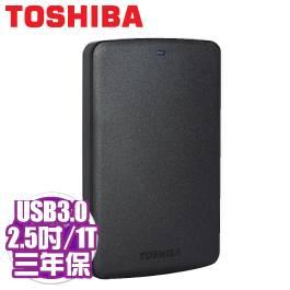 Toshiba 黑靚潮II 1TB USB3.0 2.5吋行動硬碟 (黑)