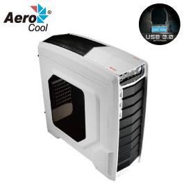 Aero cool GT-A White 電腦機殼 白色/ATX、MATX/黑化/下置電源/USB3.0*1/支援310MM顯卡/12CM風扇*2