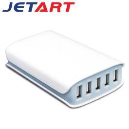 Jetart 捷藝 五孔智慧型USB充電器 UCA5050【福利品出清】