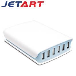 JETART 六孔智慧型USB充電器 UCA6100