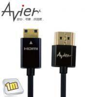 Avier CM410 HDMI 1.4版超薄極細 Mini HDMI傳輸線(A對MINI)-1m