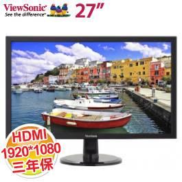 優派 27吋 VX2756SML /IPS/內建1.5W*2/D-sub+DVI+HDMI/250 cd (推薦)