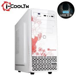 七盟 雅典娜 白色/MATX/黑化/上置電源供應器/USB3.0*1