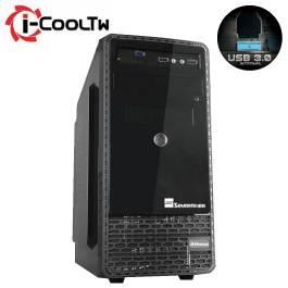七盟 雅典娜 黑色/MATX/黑化/上置電源供應器/USB3.0*1