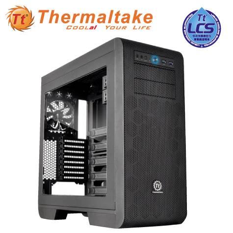 曜越 CORE V51 黑色/E-ATX/黑化/下置電源供應器/USB3.0*2/12CM風扇*2/支援480MM顯卡/CA-1C-00M1WN-00