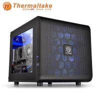 曜越 CORE V21 黑色/MATX/黑化/下置電源供應器/USB3.0*2/20CM風扇*1/支援350mm顯卡/支援240mm散熱排*2/CA-1D5-00S1WN-00