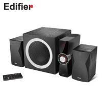 漫步者Edifier C3X 2.1聲道多媒體喇叭 /三件式/LED數位音量顯示/支援SD卡、隨身碟撥放/紅外線遙控/8吋重低音木質音箱