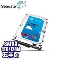 Seagate 4TB(ST4000VN0001-5Y)【企業級NAS碟】 /7200轉/SATA3/128M/五年保固