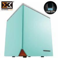 Xigmatek 富鈞 Nebula C 藍色 (Mini ITX/主機板平置/支援標準電源/內建風扇後1/顯卡230/散熱器80mm)【福利品出清】