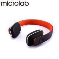 Microlab T2 藍芽4.0 無線高傳真多功能多媒體耳機(粉橘)【福利品出清】