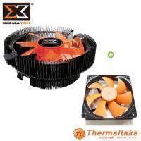 【散熱套餐】Xigmatek Apache III EP-CD903 CPU散熱器+ 曜越 美迪克 12CM 黑框橘葉 系統風扇 原價:599 特價:399