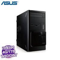 【專業商務工作站】華碩ASUS 商用PC MD570【i5-4590、B85、4G、1TB、讀卡機、W8DGW7、4-4-4】正版雙系統四年保固到府維修