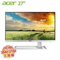 acer S277HK 27型4K2K不閃屏、濾藍光護眼寬螢幕 (客訂商品,除新品故障瑕疵,不提供7天鑑賞期 )