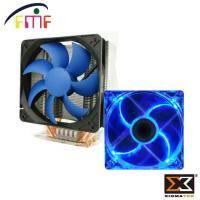【散熱套餐電競版】六導管快速排熱-FMF-雷刀+Xigmatek 水晶 II 系列 12CM風扇 藍光LED 原價:1099 特價:899