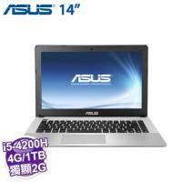 ASUS X450JB-0023D4200H 灰【i5-4200H/4G/1TB/NV-940M 2G/DVD/W8.1】【福利品出清】