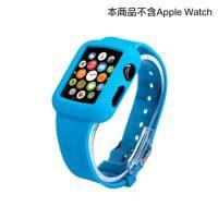 apple watch 矽膠錶帶 38mm 藍