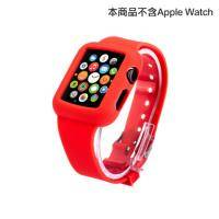apple watch 矽膠錶帶 38mm 紅