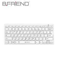 B.FRIEND 一區塊藍芽鍵盤 BT-300 白色 剪刀腳 (78KEY) /兩年保固 / (無現貨需客訂出貨)