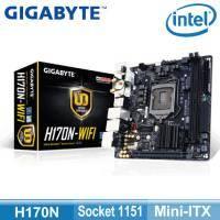技嘉 H170N-WIFI(mITX/1D1H1DVI/U3S6/intel lan/4年保)
