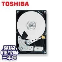 TOSHIBA 6TB(MD04ACA600) /7200轉/SATA3/128MB/三年保固內非人損直接換新