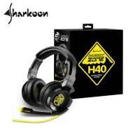 旋剛 Sharkoon H40 狂風者 立體聲電競耳麥/黑/50 mm釹鐵硼磁鐵/有線/背光