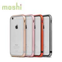 moshi iGlaze Luxe for iPhone 6 雙料金屬邊框-灰