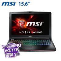 MSI GE62 6QE-252TW【i7-6700HQ/8G D4/1TB 72轉/GTX-965 2G/FHD/DVD/W10/全彩背光SS電競鍵盤】