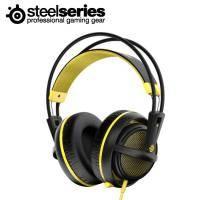 賽睿SteelSeries Siberia 200 西伯利亞200 電競耳罩式耳機麥克風-黃 /伸縮式麥克風/輕量化適合長時間配戴