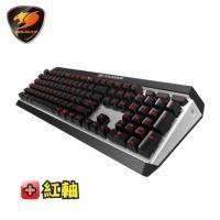 美洲獅Cougar ATTACK X3 機械式鍵盤-Cherry紅軸中文/紅光背光/懸浮式按鍵/全鋁上蓋