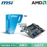 微星 760GMA-P34(FX) (mATX/2*RAM/U3S6/19 pin)